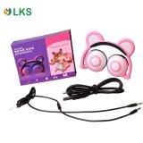OEM 크리스마스를 위한 부과되어야 하는 Foldable LED 번쩍이는 곰 귀 헤드폰