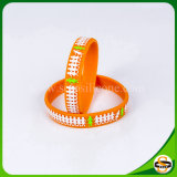 Heißes verkaufengraviertes Firmenzeichen-Silikon-Armband kein Minimum