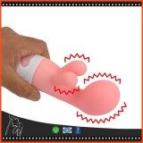 Jouet clitoridien de sexe de rouleau-masseur de poids du commerce de vibration de Clit de stimulateur de G d'endroit de Dildo de vibrateur rechargeable de lapin