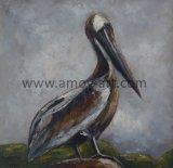 Pitture a olio animali dipinte a mano pure due Egrets su tela di canapa dalla fabbrica