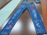 Машина маркировки лазера СО2 джинсыов Gld-350 3D динамическая кожаный