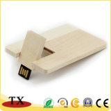 De houten Aandrijving USB van de Flits USB van de Vorm van de Kaart Creatieve
