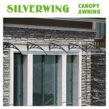 80*100 Hoja sólido policarbonato toldo Semirredondeada toldo plegable del techo de la ventana de dosel de sombra