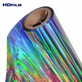 10 années d'expérience PET polyester transparente holographique Silver Rainbow Film