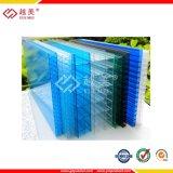Hoja hueco coloreada del material para techos del policarbonato
