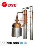 Nuevo equipo de la destilación de vapor del alcohol del cobre del vacío 2017, destilador del whisky
