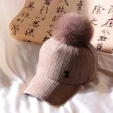 Дамы зимние вязаные береты жаккард Beanie Red Hat