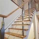 棒が付いている屋内円形の管のステンレス鋼階段柵