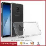 Чехол для Samsung A5, A8 2018 акриловый сплошным цветом TPU прозрачный сотовый телефон случае