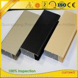 Profil en aluminium d'électrophorèse de Matt pour la décoration à extrémité élevé de guichet et de porte