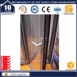 Puder beschichtete abgetönte GlasBi-Faltende Aluminiumtür mit schalldichtem und wasserdichtem