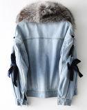 분리가능한 실제적인 모피를 가진 여자의 겨울 데님 Parka 재킷