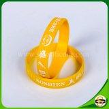 Braccialetto su ordinazione del silicone di marchio delle fasce di manopola di alta qualità