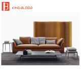 Вид в поперечном разрезе из натуральной кожи коричневого цвета в классическом стиле диван для современной мебели