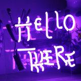 Segno degli indicatori luminosi al neon ciao là per la barra della camera da letto