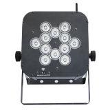 Pequeño 12PCS LED RGBW DMX 4 en 1 luz delgada de la IGUALDAD del LED