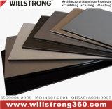 Piatto composito di alluminio per le facciate arieggiate contrassegno architettonico del soffitto del baldacchino dei comitati delle facciate delle facciate