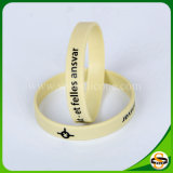 Logo personnalisé Bracelets en Silicone avec écran de soie couleur a été imprimée