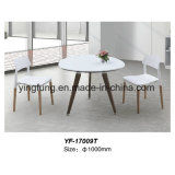 Table basse moderne de bureau en verre Tempered de type simple (YF-T17005)
