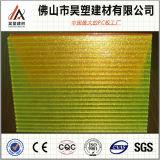лист 0.75mm PC поликарбоната стены тента крыши пластмассы 0.75mm твердый