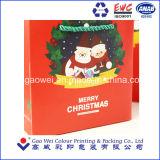 Navidad 2016 lindo papel de impresión Cesta de la compra de papel /Colgar la bolsa para regalo