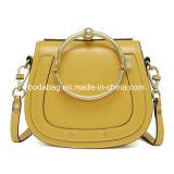 Mesdames Mini sac à main en cuir véritable femmes sac à main de selle avec une poignée ronde en métal (BDY-1709036)