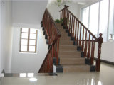 Projeto interno da balaustrada do frame das escadas da madeira contínua de estilo chinês