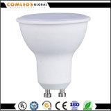 Iluminação do bulbo do diodo emissor de luz de Aluminum+Plastic GU10 3W 5W