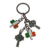 カスタム昇進の買物車Keychain金属によって個人化されるKeychain