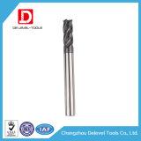 2/4 das flautas esquadram o moinho de extremidade do carboneto do moinho de extremidade para o aço