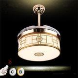 Вентилятор потолка китайского типа декоративный незримый с светом