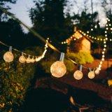 G40 LEDのフィラメントの球根ストリングライト20FT 30のLEDの屋内庭のための防水屋外の妖精の地球ストリングライト