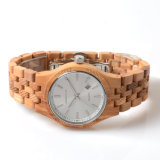 Vigilanza di legno dell'orologio del commercio all'ingrosso di modo di ODM/OEM del Mens di legno del quarzo