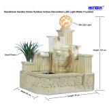 Fontana dell'interno esterna dell'acqua leggera della decorazione LED della casa del giardino dell'arenaria