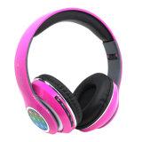 Protetor de ouvido grande luz LED intermitente do fone de ouvido Bluetooth FM sem Fios