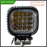 CREE 40W 5 pouce carré de la lampe de travail DEL Sanmoom 10-30V