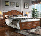 Solid Wooden Bed Modern Doubles Beds (M-X2261)