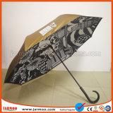 Parapluie de golf imprimé par modèle libre coloré à la mode