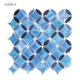 Künstler kleine Paterred blaue Badezimmer-Buntglas-Mosaik-Fliese für Backsplash
