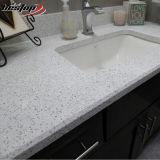 Parti superiori bianche di vanità della stanza da bagno della pietra del quarzo di colore del grano di migliore qualità