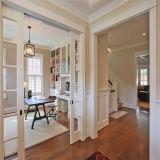 تصميم حديثة مزدوجة [سليد غلسّ] باب خشبيّة لأنّ يعيش غرفة