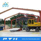 Estructura de acero del palmo grande prefabricado para el almacén