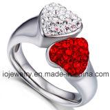 Por encargo de moda mayorista anillo de acero inoxidable 316L