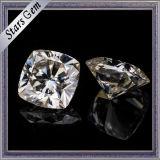 반지를 위한 Gh 색깔 방석 커트 Moissanite