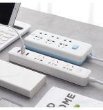 3アウトレットが付いている力のストリップ6.5FTの延長コードおよび電子製品のための4つのスマートなUSBポート