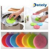 سليكوون طبق يغسل تنظيف فرشاة إسفنجة مطبخ منظّف أداة