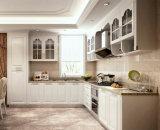 現代デザインMDFの食器棚の木の食器棚
