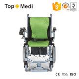 Peso leggero di alluminio di terapia di riabilitazione che piega sedia a rotelle elettrica portatile