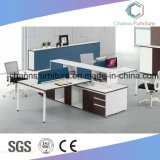 Le tableau 6 sièges de bureau blanche Station de travail en bois CAS-W1825