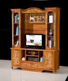 Grand élément en bois antique de poste TV de Module de salle de séjour